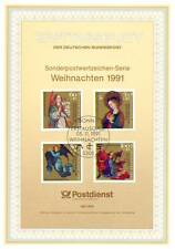 BRD 1991: Weihnachten! Ersttagsblatt der Nr. 1578-1581 mit Bonner Stempel! 1605