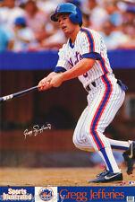 POSTER : MLB BASEBALL : GREGG JEFFRIES  - NY METS - FREE SHIP! #7520 RC3 P
