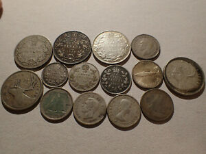 $2.10 Face Canada .925 - .800  Silver 1910 - 1964 and one 1968 25 .500