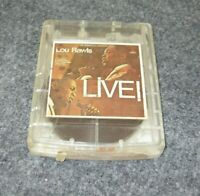 LOU RAWLS Live! 4 Track Clear Tape Cartridge 4CL-2459 Capitol Records Muntz Rare