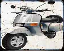 Bajaj Chetak 150 05 01 A4 Metal Sign Motorbike Vintage Aged