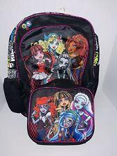 Nuevo Nuevo con etiquetas mochila de Monster High & Lunchbag Lunchbox