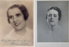 2 PORTRAITS PHOTOS ANCIENS : G.L. MANUEL FRÈRES & DE JONGH, MARIA SURSOCK ~ 1926