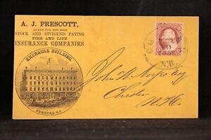 New Hampshire: Concord 1859 #11 Prescott Fire & Life Insurance Advertising Cover