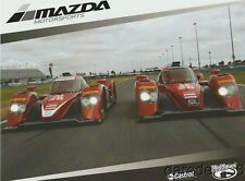 2016 Mazda Motorsports P2 IMSA WTSC postcard 4 Driver Back