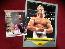 WWF WWE Magazine AUGUST 1993 Bret Hart + Catalog + Poster