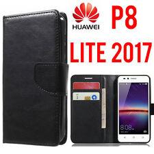 Custodia HUAWEI P8 LITE 2017 Flip Cover Libro Portafoglio Chiusura Magnetica