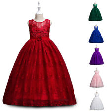Fancy Kids Flower Girls Party Tulle Dress Bridesmaid Pageant Christmas Prom Gown