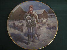 Country Christmas 1992 Collector Plate Lowell Davis Born On a Starry Night Sheep