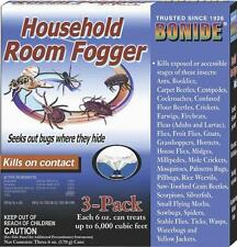 NEW BONIDE 683 PK (3) 6OZ INDOOR TOTAL RELEASE INSECT BUG FOGGERS KILLER 6177349