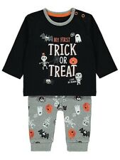 Brand New Halloween My First Trick or Treat Pyjama Set 0-3 months old