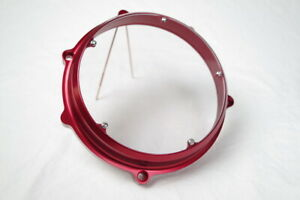Ducati Kbike CASTOR Billet Anodized See Thru Clutch Cover RED made IN ITALY