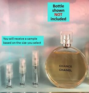 Chanel - Chance EDT- Sample Size (2mL, 3mL or 5mL) - FREE SHIPPING