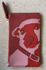 NWT Diane Von Furstenberg DVF Leather DOG Change Purse Credit Card Case Holder