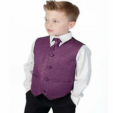 Boys Suits Black Purple 4 Piece Suit Wedding Page Boy Baby Formal Party Smart