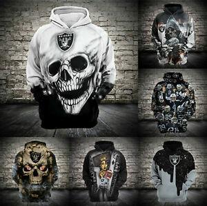 Las Vegas Raiders Hoodies Football Hooded Sweatshirt Casual Pullover Coat Jacket