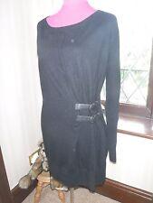 Amazing All Saints Ellil Leather Buckle Jumper Dress Size 8 Excellent Condition