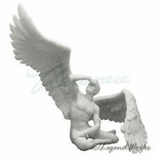 Winged Nude Male Sitting With Right Wing Extend White collectible figure statue