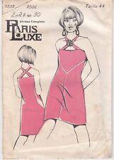 Patron Ancien Paris Luxe Femme n°5839 - Robe à bretelle croisée Taille 44
