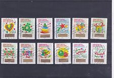 FRANCE 2016 TIMBRE A GRATTER SERIE COMPLETE DE 12 TIMBRES OBLITERES