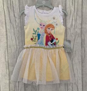 Disney Store Frozen Princess Dress 2 Years Tutu Girls Party Age 2-3 Summer Elsa