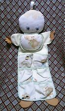 Vintage Plakie Toys Baby Dressing Bag Nursery Organizer Sewn Blue Eyes Blonde