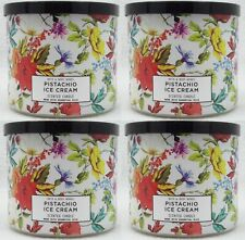 4 Bath & Body Works PISTACHIO ICE CREAM 3-Wick Large Candle