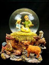 Christmas Nativity Scene Snow Globe, Plays Silent Night