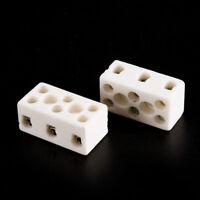 2Pcs 8 Hole 2W8H High Temperature Resistant Ceramic Terminal Block 15A 250V LD