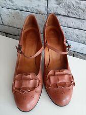 Chie Mihara Brown Strap Mid Heel Shoes UK 5/EU 38 **Please Read Description**