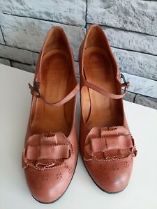 Chie Mihara Brown Strap Mid Heel Shoes UK 5/EU 38 **Please Read Description**