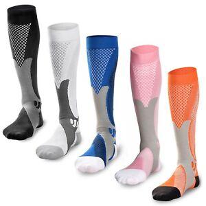 Compression Socks Sport Running Fitness Calf Shin Leg Men Women CrossFit (S~XXL)