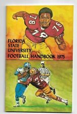 VINTAGE - 1975 FLORIDA STATE UNIVERSITY FOOTBALL MEDIA GUIDE