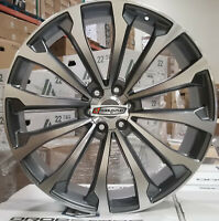 "24"" Wheels 5095 Style Gray Rims Fit 6lug Toyota Tacoma 4Runner FJ Cruiser"