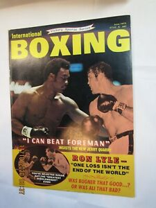 Vintage 1973 International Boxing Magazine George Foreman, J. Quarry On Cover