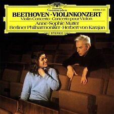 ANNE-SOPHIE MUTTER violin - Beethoven Concerto KARAJAN (CD 1980 DG) SOLID SILVER