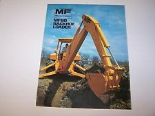 MASSEY FERGUSON MF 80 BACKHOE LOADER TRACTOR ORIGINAL COLOR SALES BROCHURE