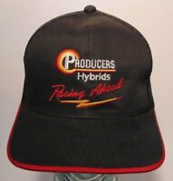 Vintage 1990s Producers Hybrids Corn Farm Nascar Racing Snapback Trucker Hat Cap