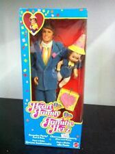 Mattel Bambola Famiglia Cuore PAPA' e BIMBA alla FESTA The Heart Family MIB,1985