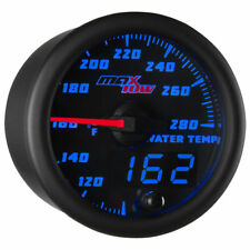 MaxTow 52mm Black & Blue Double Vision Water Temperature Gauge - MT-BDV06