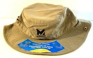 Mission Instant Cooling Hat, Cools Instantly When Wet, Tan Khaki ~ New With Tags