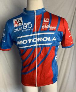 Giordana Motorola Cycling Jersey Mens Full Zip Eddie Merckx /Lance Armstrong XXL