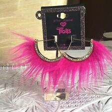 Betsey Johnson Trolls Designer Earrings Oversized Abstract Pink Runway Couture