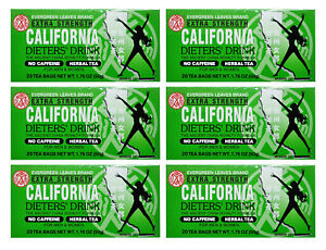 CALIFORNIA DIETER DRINK EXTRA STRENGTH TEA 20 BAGS  (SIX)  Exp 9/24
