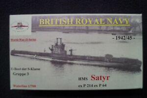 HP Models  Brit. U-Boot der S-Klasse 3. Gr. HMS Satyr -1942/45-  1:700 Resin