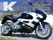 Aufkleber K1200RS für BMW Tank Verkleidung K 1200 RS / weiß-silber