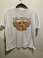 Vintage Honda Gold Wing Gray Tshirt 90s Motorcycle Biker Men's Large