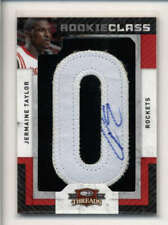 JERMAINE TAYLOR 2009/10 DONRUSS THREADS ROOKIE JERSEY PATCH AUTO #527/696 AK6897