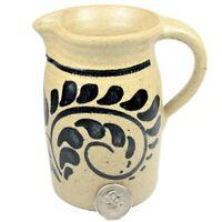 Vintage New Geneva Stoneware Co. Salt Glaze Pitcher Artist Signed Nopwasky 1984