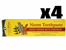 Organix South, TheraNeem Naturals, Neem Toothpaste, Cinnamon, 4 PACK, 4.23 oz ea